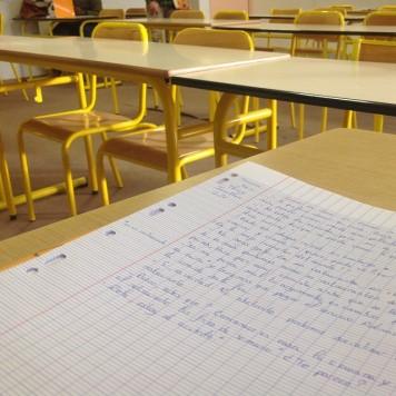 Clase de español en la Université de Rennes 2, Francia