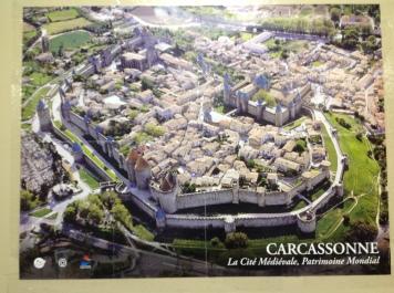 Póster de la ciudadela de Carcassone, al sur de Francia