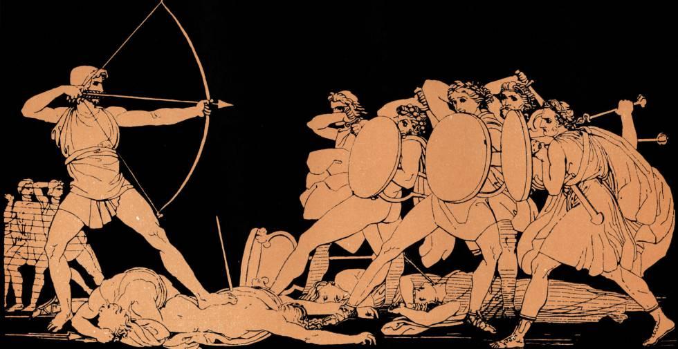 John Flaxman, Ulises matanza pretendientes